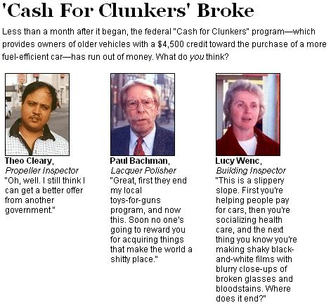 onion cash for clunkers